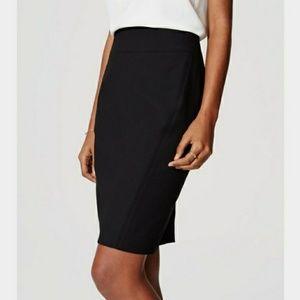 Ann Taylor Loft Black Pencil Skirt